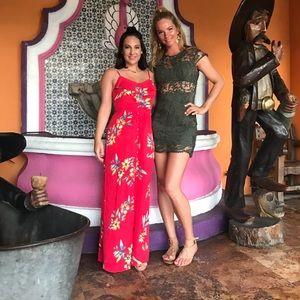 Express tropical Maxi Dress